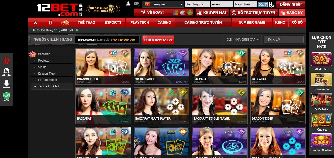 casino trực tuyến nhà cái 12bet